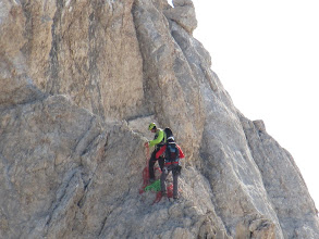 Photo: Alpinisti sullo Spigolo SSE