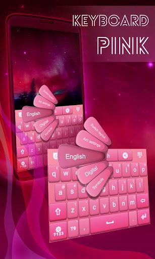 粉紅色的鍵盤為Android