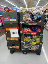 Photo: This pile of candy in the aisle was so tempting, but we already had plenty at home sowe decided to pass it up (this time).