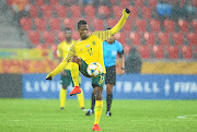 Luvuyo Phewa of SA in action during the Fifa U-20 World Cup in Poland.