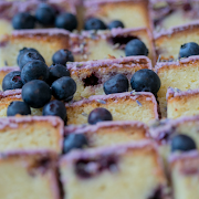 White Chocolate Blueberry Lavender Loaf Cake