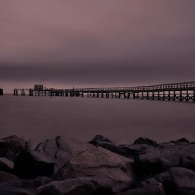 Pier by Brian Lord - Buildings & Architecture Bridges & Suspended Structures ( pier, sunrise, waterscape, water, landscape )