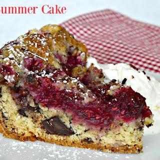 Berry and Dark Chocolate Studded Summer Cake.