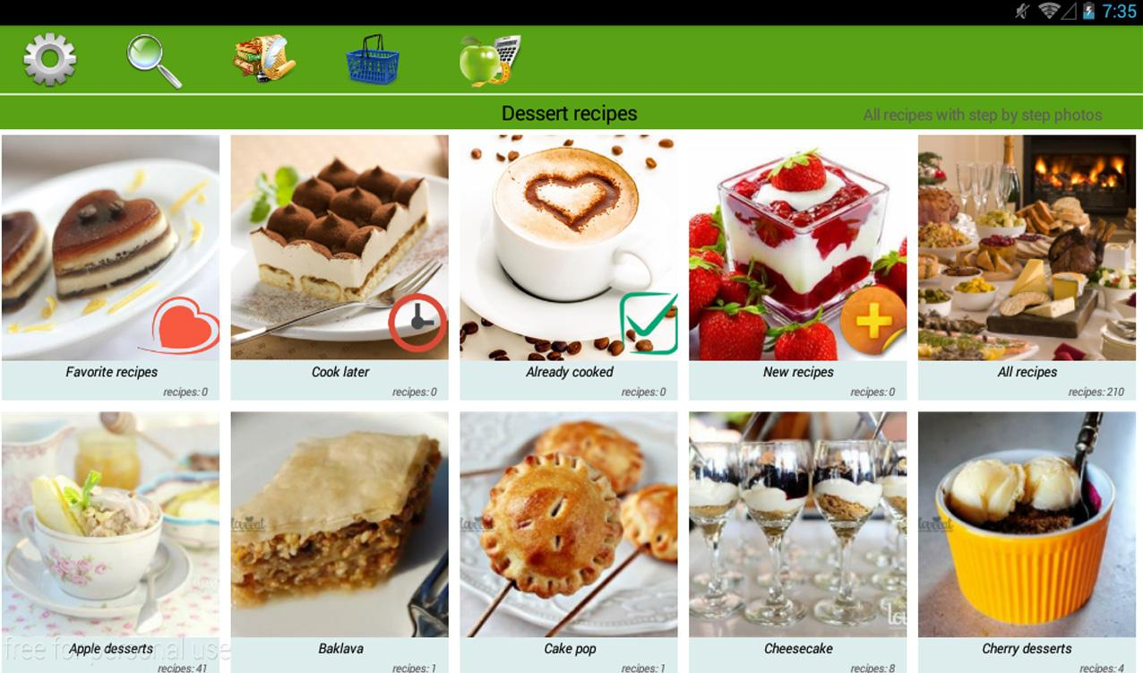 Dessert recipes- screenshot