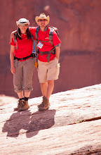 Photo: Noah and Phoebe pose on the edge of the canyon.