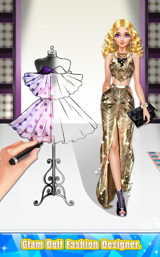 glam doll fashion designer screenshot