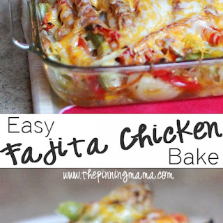 Easy Fajita Chicken Bake.