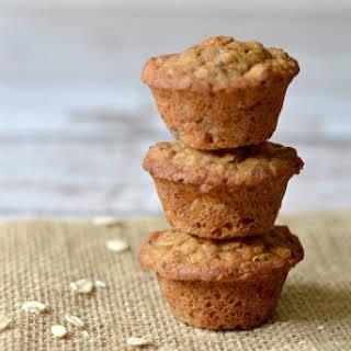 Gluten Free Banana Oat Mini Muffins.