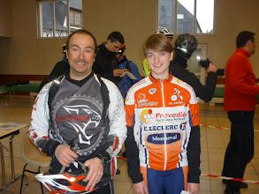 Photo: Orbéaman27 et Cassandre qui a eu la coupe de la + jeune VTTiste