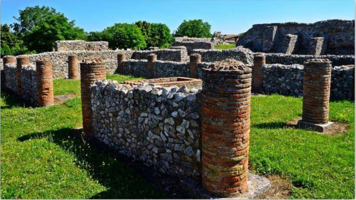 archäologische ausgrabungen von aeclanum in mirabella eclano, irpinia, provinz avellino