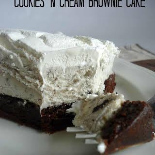 Cookies N Cream Brownie Cake.