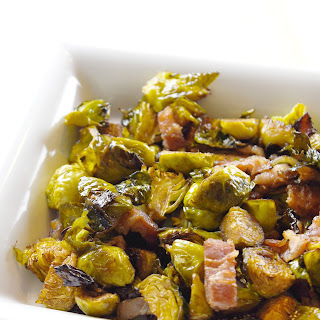 Balsamic & Bacon Roasted Brussels Sprouts