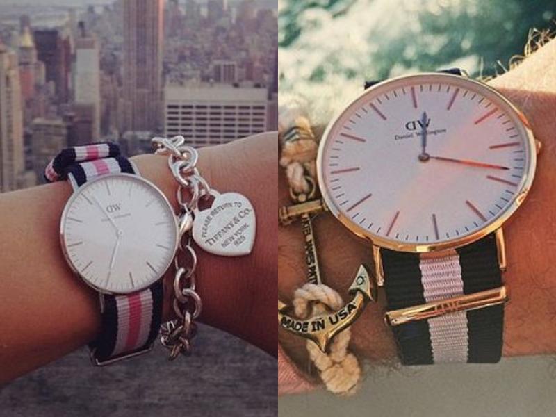 Đồng hồ Daniel Wellington dây vải mang một thiết kế trẻ trung, sáng tạo, năng động.