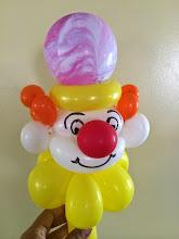Photo: Clown balloon twisting by Maria, Chino, Ca 888-750-7024 http://www.memorableevententertainment.com/FacePainting/MariaChino,Ca.aspx