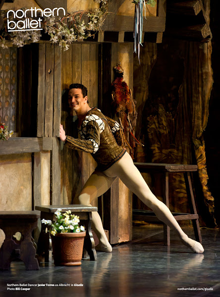 Photo: Northern Ballet Premier Dancer Javier Torres as Albrecht in Giselle. Photo Bill Cooper, 2011.