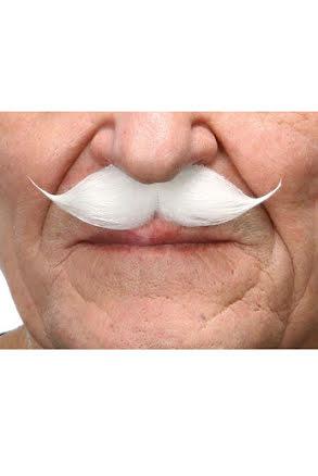 Mustasch Gentleman, vit