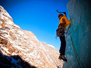 Photo: Ice climbing in Italy