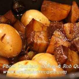Pork Adobo with Eggs and Potato.