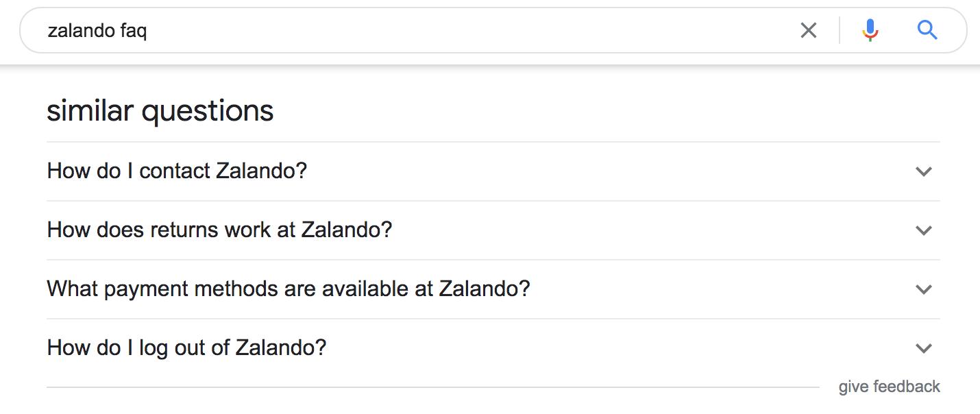 Google's FAQ schema markup