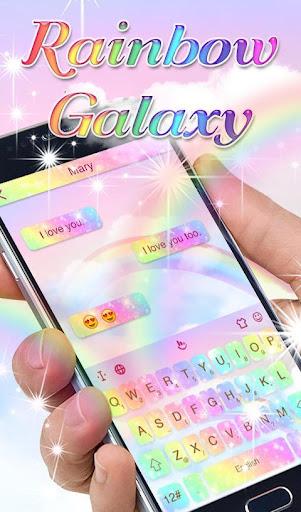 Rainbow Galaxy Keyboard Theme 6.11.17.2018 screenshots 1
