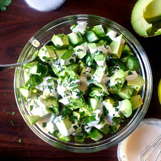 Obsessively Good Avocado Cucumber Salad.