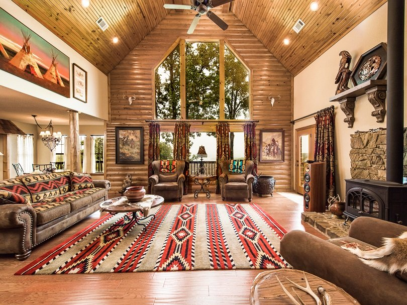 western log cabin interior design