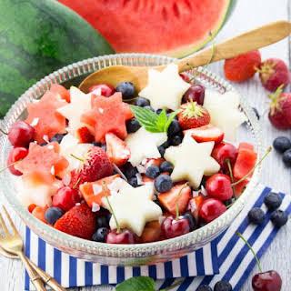 4th of July Fruit Salad.