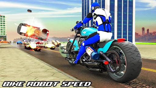 Police Bike Robot Shooter: Moto Racing Simulator 1.5 screenshots 1