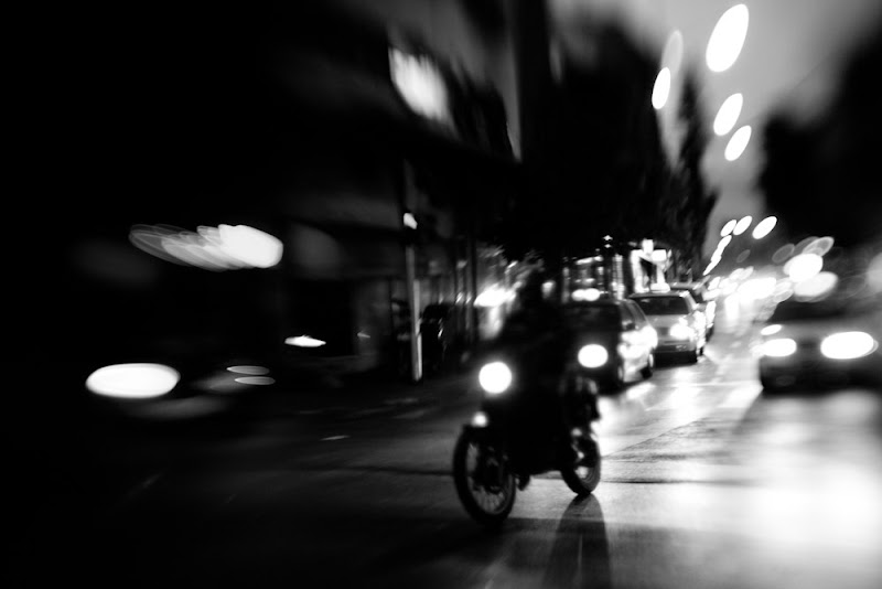 Photo: night traffic -  distorted by lensbaby composer Photography © Victor Bezrukov - All Rights Reserved. See more photographs at: http://www.redbubble.com/people/stran9e