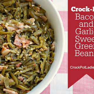 Crock-Pot Bacon and Garlic Sweet Green Beans.