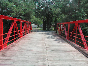 Photo: The new bridge, and entry way to Ferguson's Willow Creek Campground & RV Park.