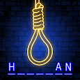 Hangman Glow - Free Word Game with Mr Zombie icon