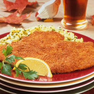 Chicken Schnitzel with Lemon.
