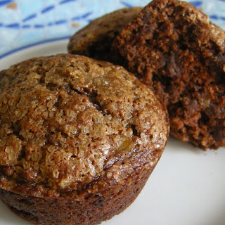 Chocolate Banana Crinkle Muffins