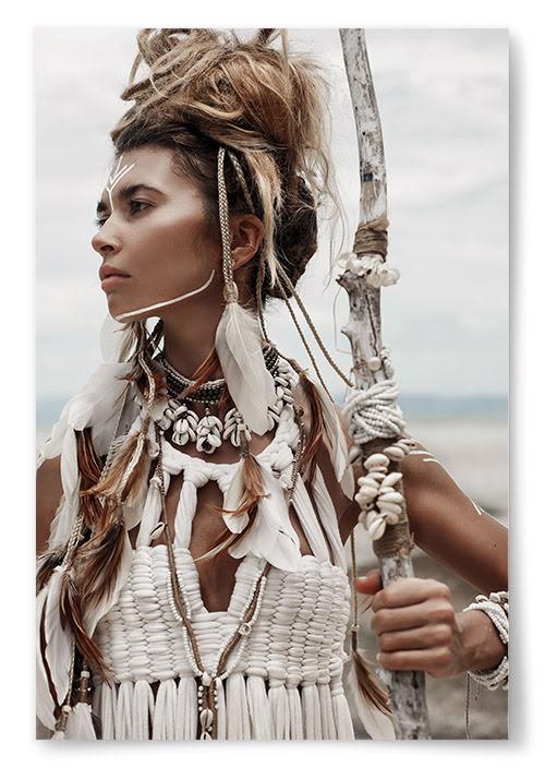 Poster Kvinna Native