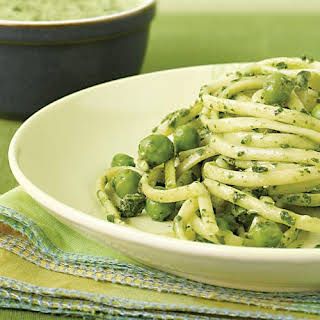 Spinach & Pea Pesto Linguine.