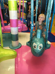 Toddler sitting on a ride