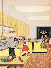 Photo: Oh cool, mom has an in-kitchen herbal garden. The scalloped trim under the shelf and chrome trim along the counter looks familiar to this child of the 1950's