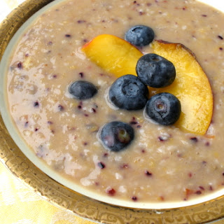 Nectarine and Blueberry Smoothie Oatmeal