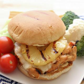 Hawaiian Grilled Chicken Sandwiches.