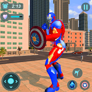 Super Captain Robot Flying: City Survival Mission for PC