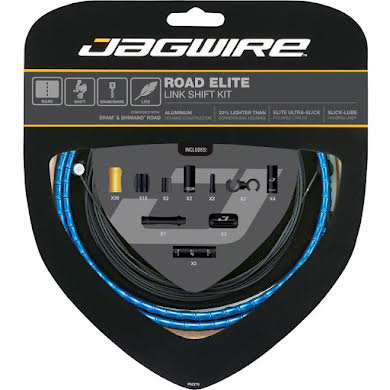 Jagwire Road Elite Link Shift Cable Kit with Ultra-Slick Uncoated Cables