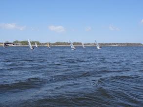 Photo: fleet on port tack