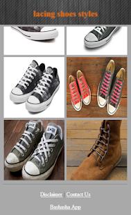 Šněrování boty styly - náhled