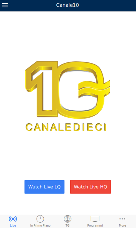 CANALE10- screenshot