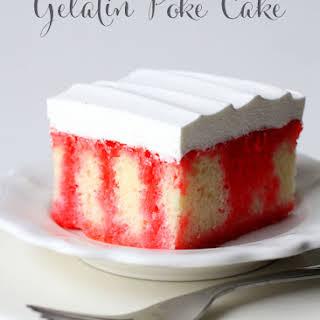 Gelatin Poke Cake.