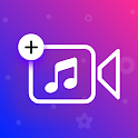 Add music to video - background music for videos icon