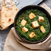 Saag Paneer with Rice
