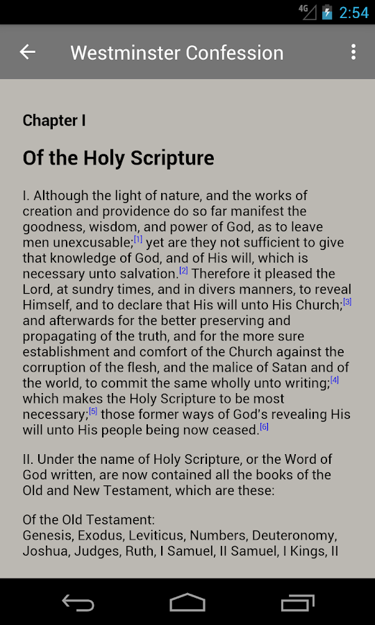 The Westminster Confession- screenshot