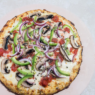 Cauliflower Crust Veggie Pizza Recipe